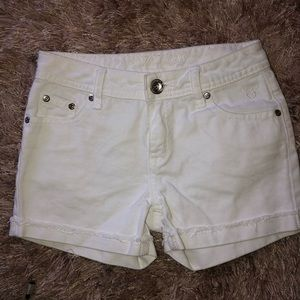 Justice Kids White Shorts